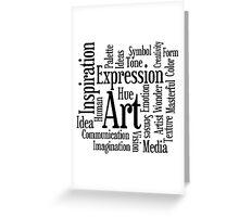 Art and Creativity Artist's Word Cloud Greeting Card