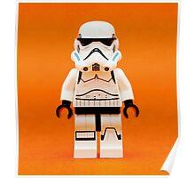 Lego Storm Trooper on Orange Poster