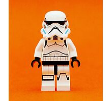 Lego Storm Trooper on Orange Photographic Print