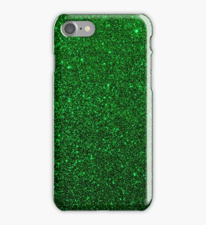 Christmas Evergreen Green Sparkly Glitter iPhone Case/Skin