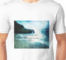 Rumi Inspirational Wherever you stand quote  Unisex T-Shirt