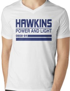 Hawkins Power and Light Mens V-Neck T-Shirt