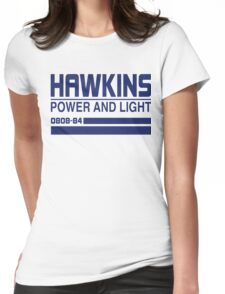 Hawkins Power and Light Womens Fitted T-Shirt