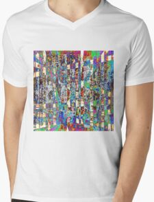 Chaos Within the Fence Mens V-Neck T-Shirt