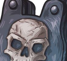 Locked Up Good - Skull Padlock Sticker