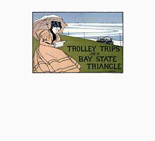 Boston Trolley Vintage Poster Restored Unisex T-Shirt