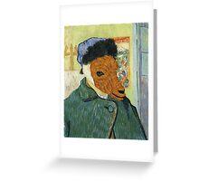 Vincent Van Goat Greeting Card