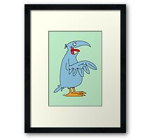 Derp is the bird. Framed Print