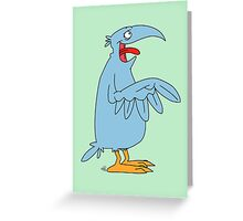 Derp is the bird. Greeting Card