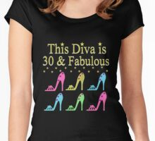 30TH PARTY GIRL SHOE QUEEN Women's Fitted Scoop T-Shirt
