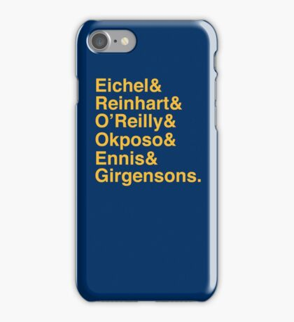 SABRES TOP 7 - YELLOW iPhone Case/Skin