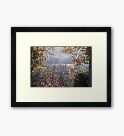 Valley - Looking through the Fog Framed Print