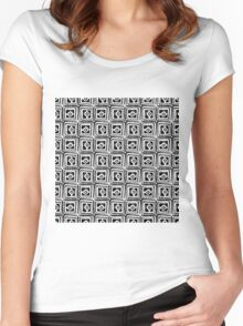 Simple squares. Women's Fitted Scoop T-Shirt