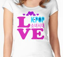 ♥♫Love SNSD-Girls' Generation Fabulous K-Pop Clothes & Phone/iPad/Laptop/MackBook Cases/Skins & Bags & Home Decor & Stationary & Mugs♪♥ Women's Fitted Scoop T-Shirt