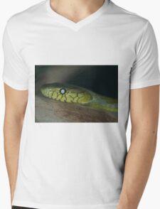 Green Mamba Mens V-Neck T-Shirt