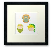Legend of Zelda Characters Framed Print