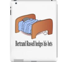 Bertrand Russell hedges his bets iPad Case/Skin