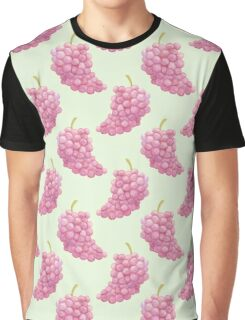Red Grapes V2 Green Background Graphic T-Shirt