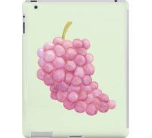 Red Grapes V2 Green Background iPad Case/Skin