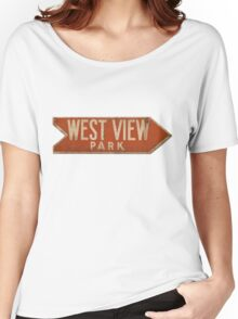 West View Park Sign Women's Relaxed Fit T-Shirt