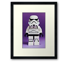 Purple Lego Storm Trooper Framed Print