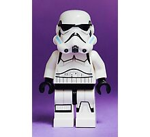 Purple Lego Storm Trooper Photographic Print