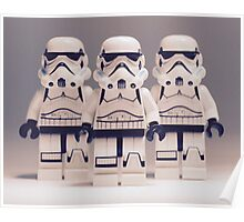 Grey Lego Storm Trooper line up Poster