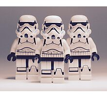 Grey Lego Storm Trooper line up Photographic Print