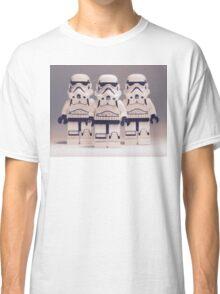 Grey Lego Storm Trooper line up Classic T-Shirt