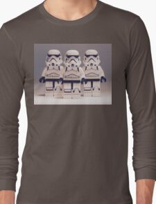 Grey Lego Storm Trooper line up Long Sleeve T-Shirt