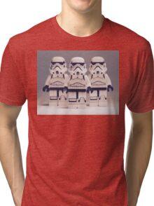 Grey Lego Storm Trooper line up Tri-blend T-Shirt