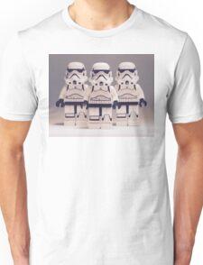 Grey Lego Storm Trooper line up Unisex T-Shirt