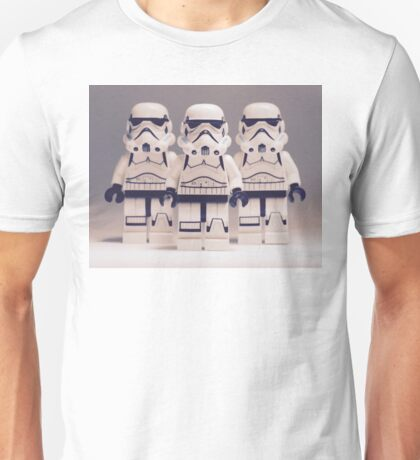 Grey Lego Storm Trooper line up Unisex T-Shirt