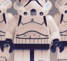 Grey Lego Storm Trooper line up Sticker