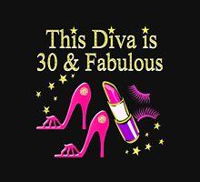 PINK HIGH HEEL 30TH BIRTHDAY DIVA DESIGN Women's Fitted Scoop T-Shirt