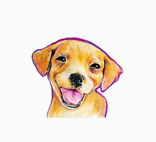 Golden Retriever Puppy Smiling Happy Drawing Unisex T-Shirt