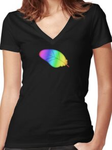 MLP - Cutie Mark Rainbow Special – Featherweight V3 Women's Fitted V-Neck T-Shirt