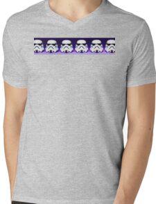 Purple Lego Star Wars Heads Mens V-Neck T-Shirt