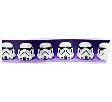 Purple Lego Star Wars Heads Poster