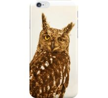 Blinking Owl iPhone Case/Skin