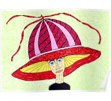 1970's English Summer Hat Poster