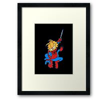 The Real Spider-Man Framed Print