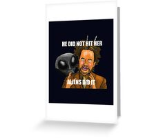 I did not hit her, I did nahht - The Room Greeting Card