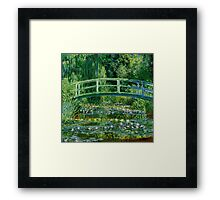 Waterlillies and Japanese bridge by Claude Monet,impressionist Framed Print