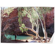 Hamersley Gorge, with photographer Poster
