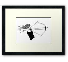 Huntress Framed Print