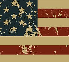 Independence Day America Grunge Flag iPhone 4 Case / iPad Case / Tote Bag / Pillow / Duvet    by CroDesign