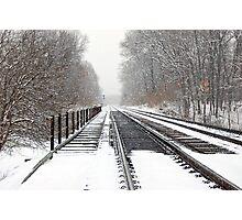 Snowy Tracks Photographic Print