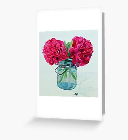 Peony Arrangement Greeting Card