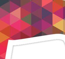 Treeing Walker Coonhound Colorful Geometric Pattern Silhouette - Multi Sticker